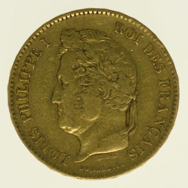 frankreich - Frankreich Louis Philippe I. 40 Francs 1834 A