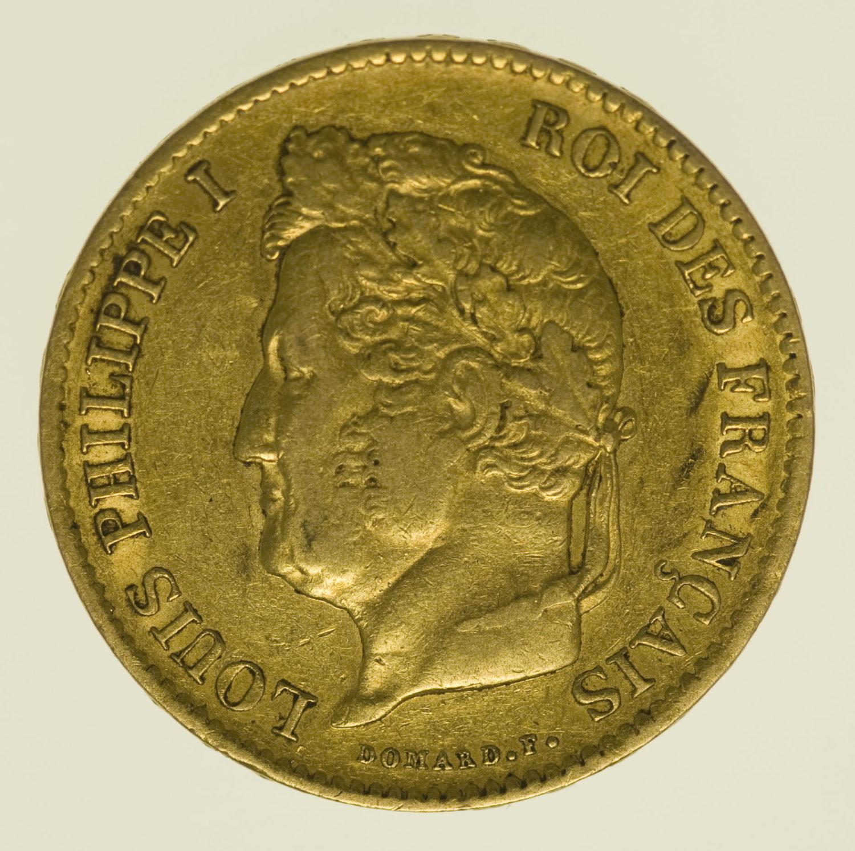 frankreich - Frankreich Louis Philippe I. 40 Francs 1836 A