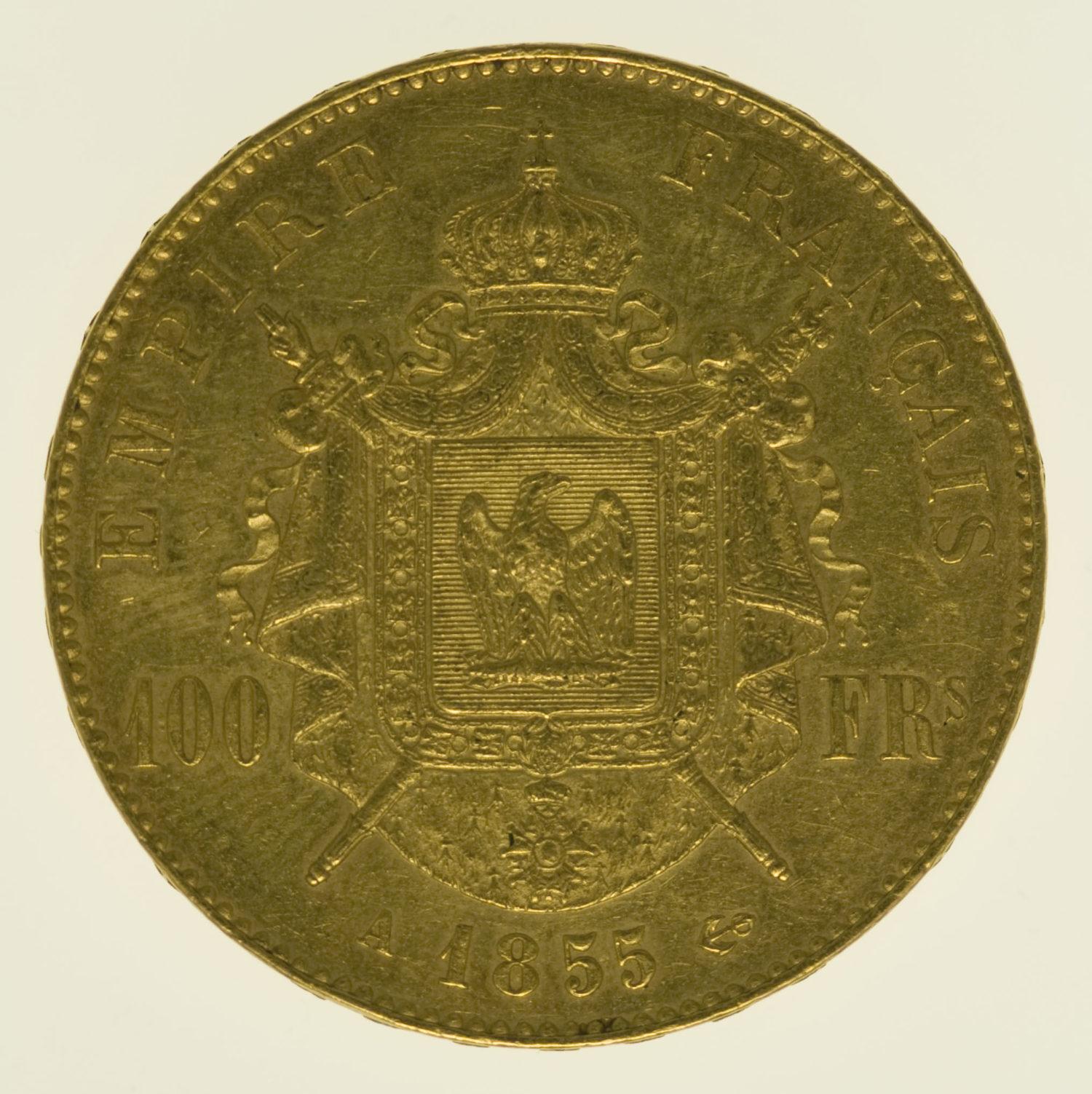 frankreich - Frankreich Napoleon III. 100 Francs 1855 A