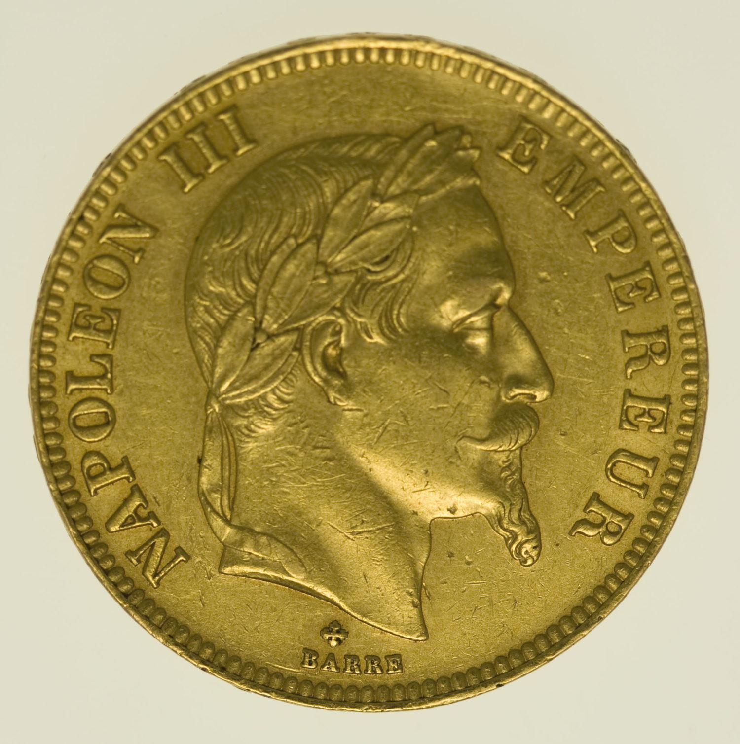 frankreich - Frankreich Napoleon III. 100 Francs 1862 BB