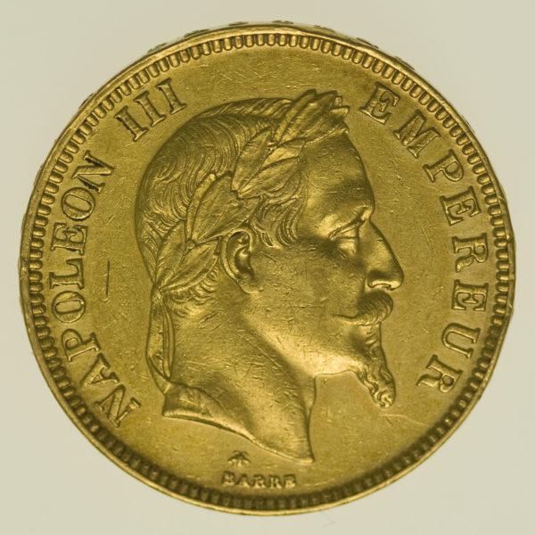 frankreich - Frankreich Napoleon III. 100 Francs 1869 A