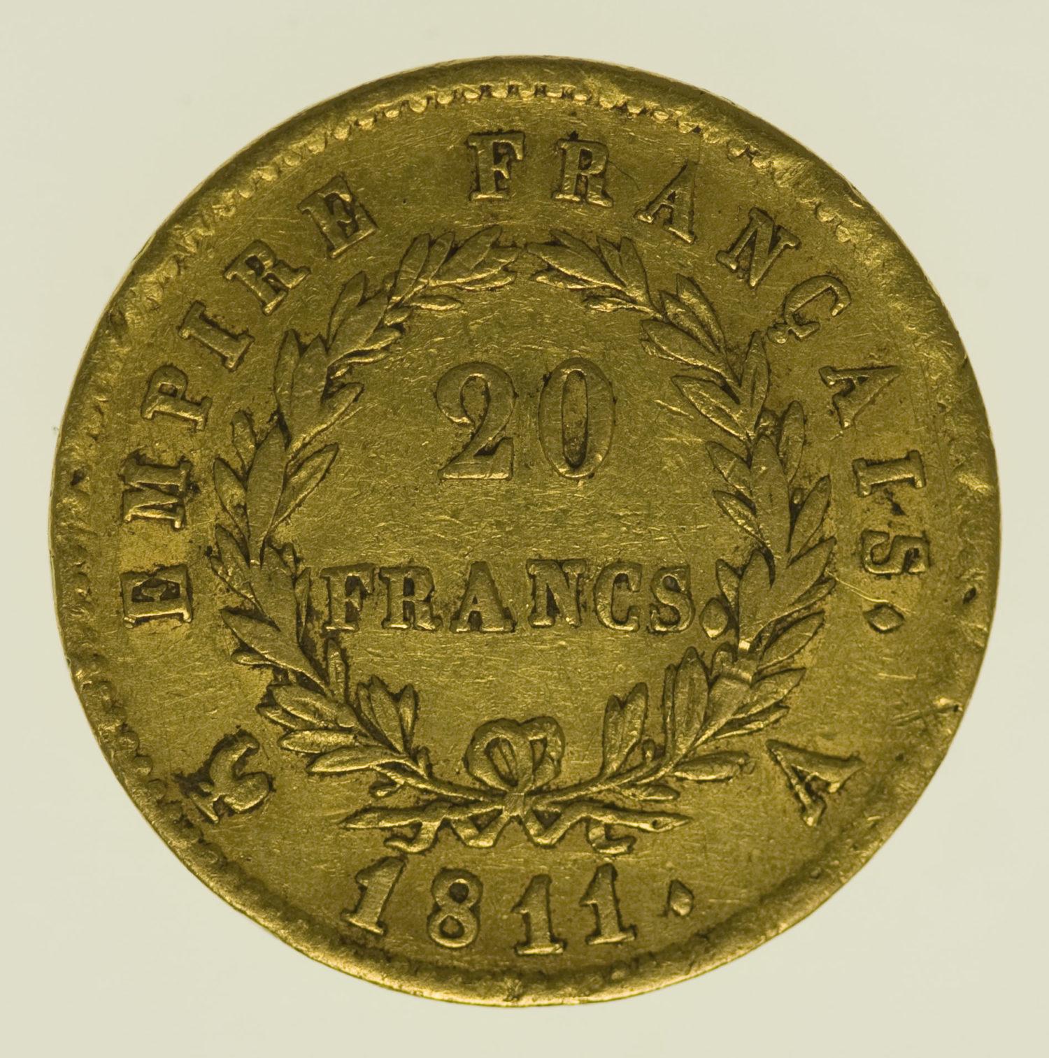 frankreich - Frankreich Napoleon I. 20 Francs 1811 A