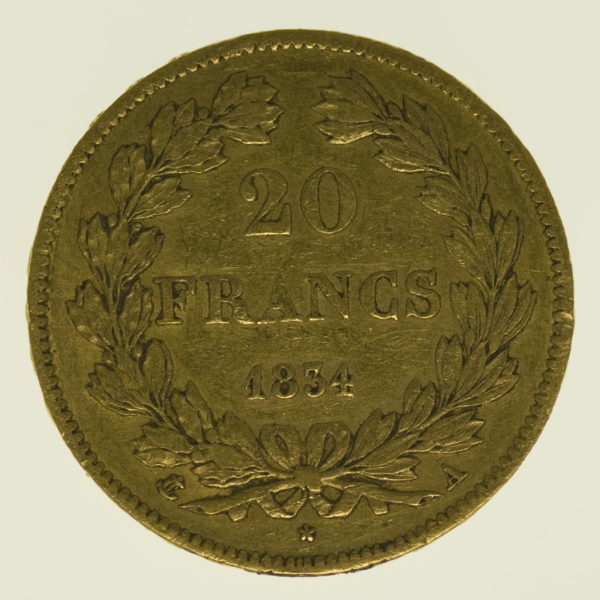 frankreich - Frankreich Louis Philippe I. 20 Francs 1834 A