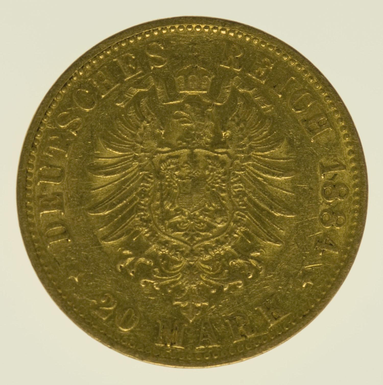 deutsches-kaiserreich-ab-1871 - Hamburg Stadtwappen 20 Mark 1884