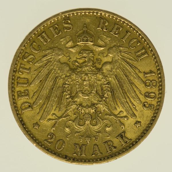 deutsches-kaiserreich-ab-1871 - Hamburg Stadtwappen 20 Mark 1895