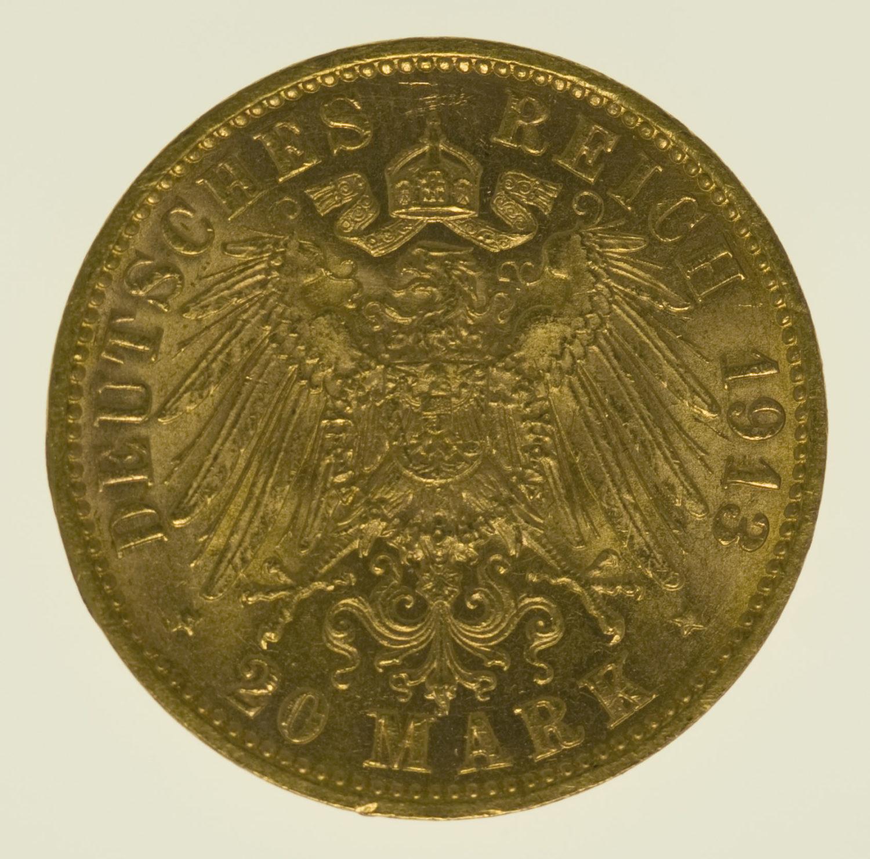 deutsches-kaiserreich-ab-1871 - Hamburg Stadtwappen 20 Mark 1913