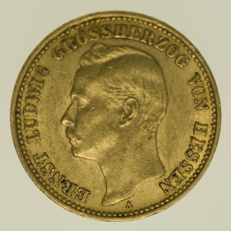 deutsches-kaiserreich-ab-1871 - Hessen Ernst Ludwig 20 Mark 1906