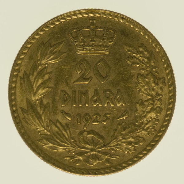 jugoslawien - Jugoslawien Alexander I. 25 Dinara 1925