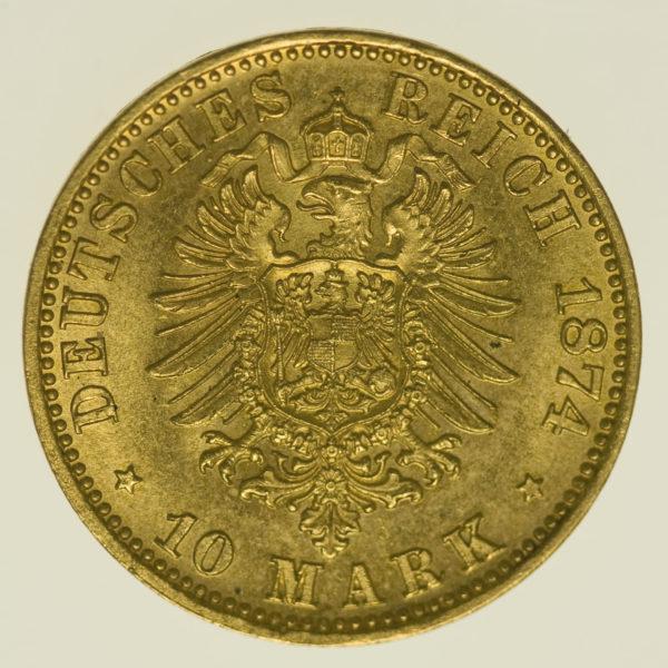deutsches-kaiserreich-ab-1871 - Preussen Wilhelm I. 10 Mark 1874 A