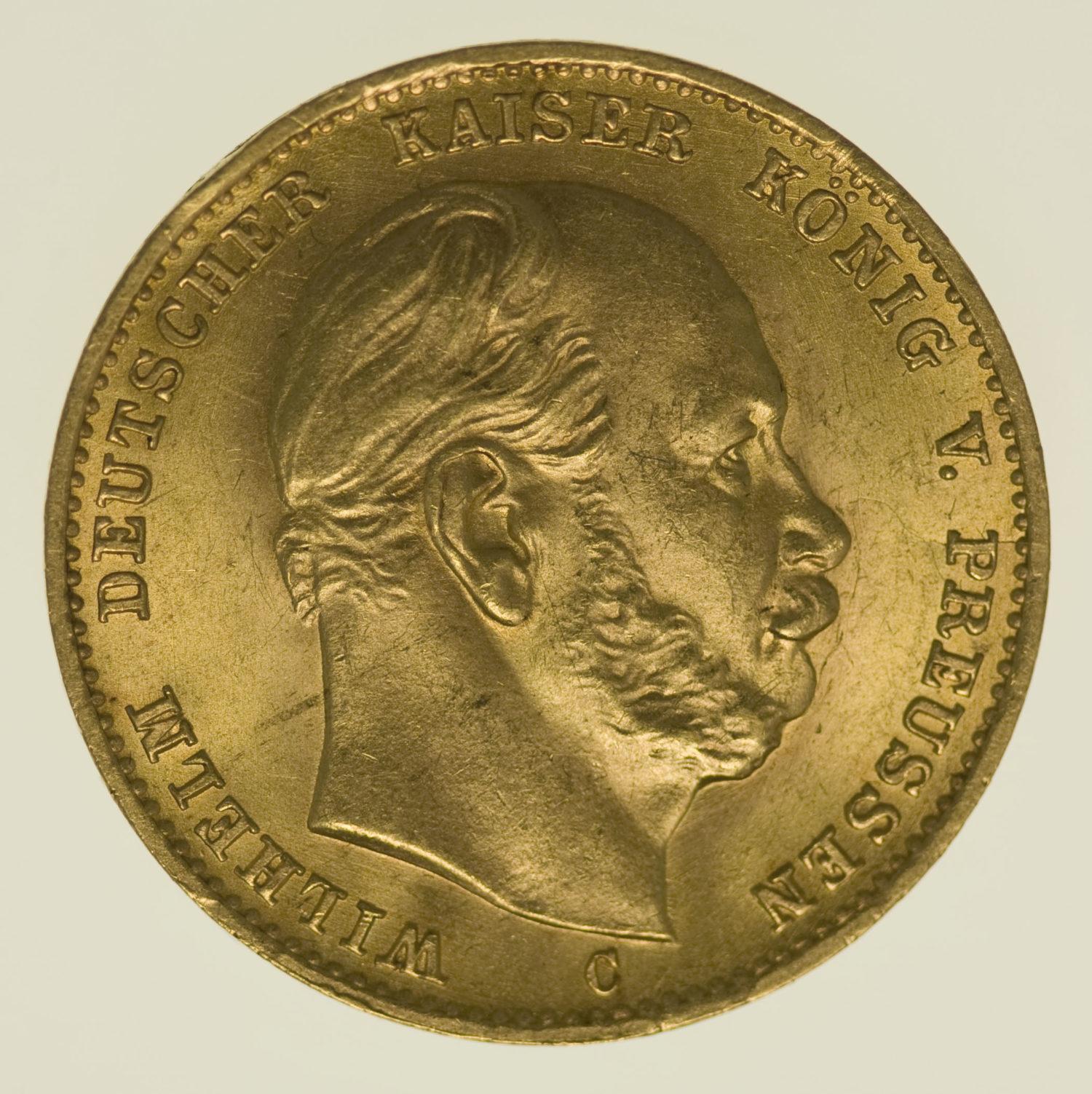 deutsches-kaiserreich-ab-1871 - Preussen Wilhelm I. 10 Mark 1879 C