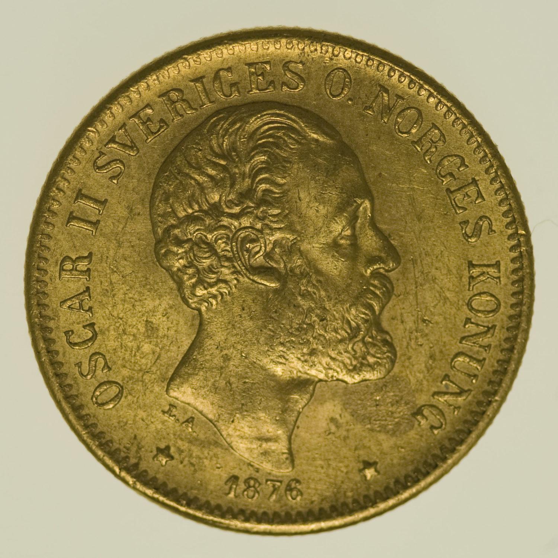 schweden - Schweden Oskar II. 20 Kronen 1876 EB