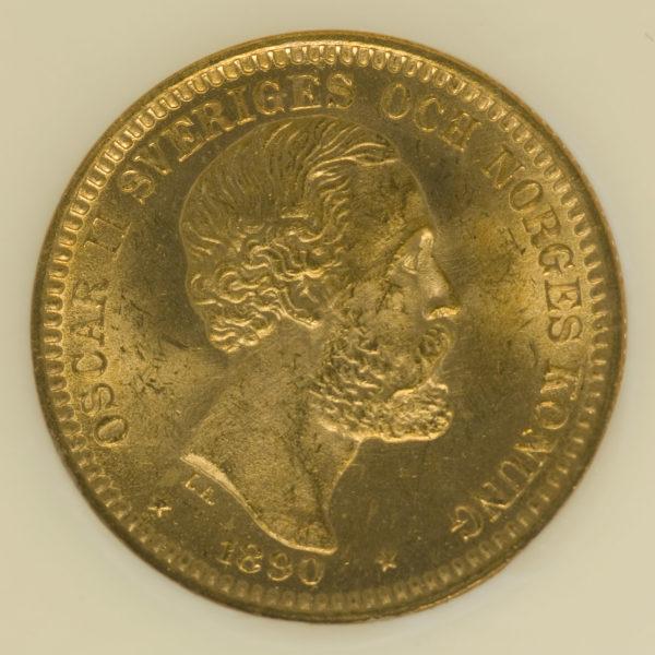 schweden - Schweden Oskar II. 20 Kronen 1890 EB
