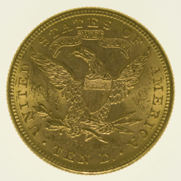 usa - USA 10 Dollars 1882 Liberty / Kopf