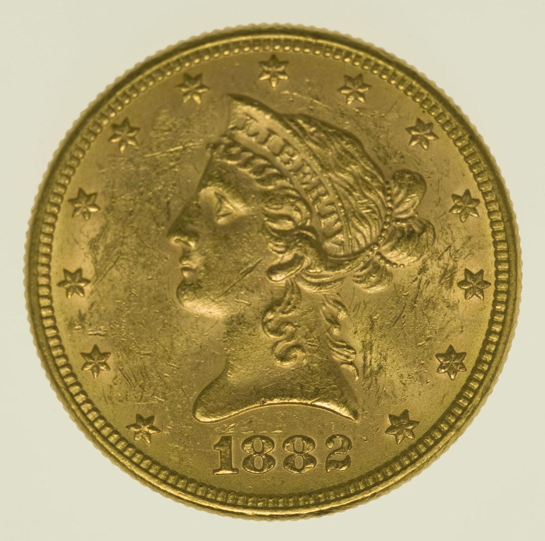 usa - USA 10 Dollars 1882 Liberty / Kopf