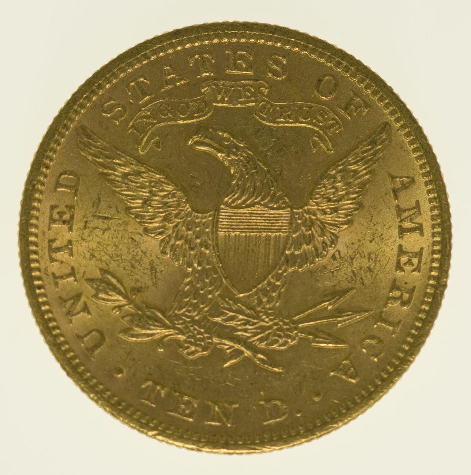 usa - USA 10 Dollars 1899 Liberty / Kopf