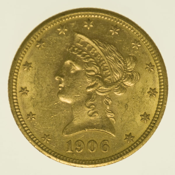 usa - USA 10 Dollars 1906 D Liberty / Kopf