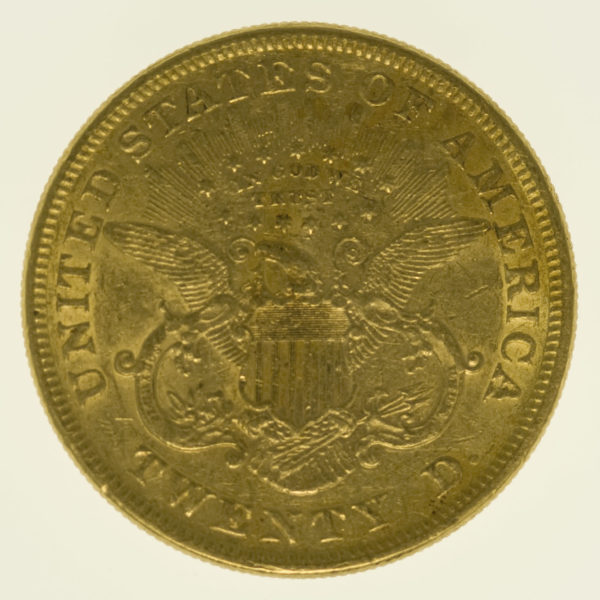 usa - USA 20 Dollars 1873 Liberty / Kopf