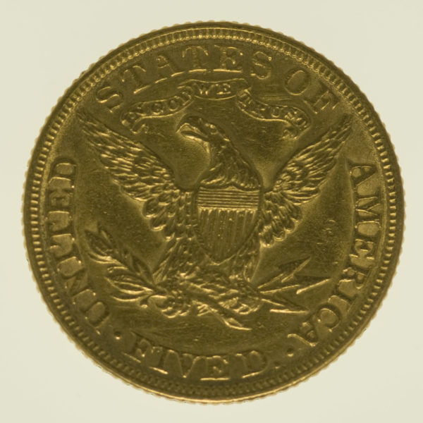 usa - USA 5 Dollars 1882 Liberty / Kopf