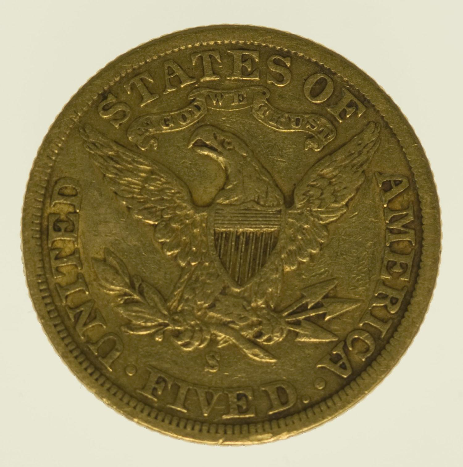 usa - USA 5 Dollars 1901 S Liberty / Kopf