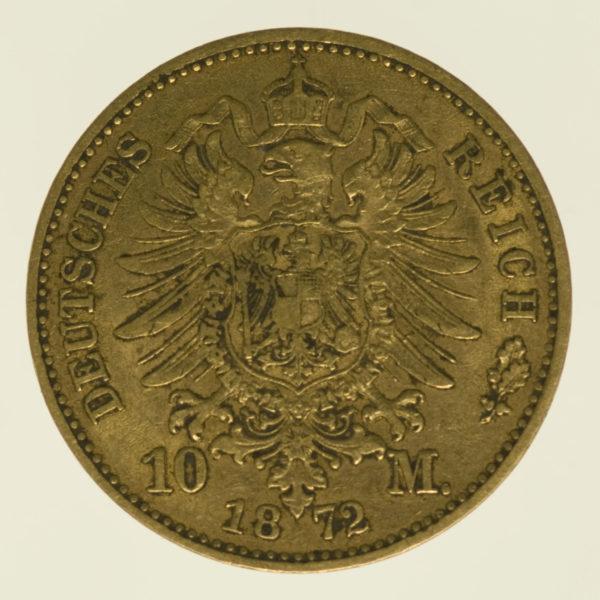 deutsches-kaiserreich-ab-1871 - Bayern Ludwig II. 10 Mark 1872