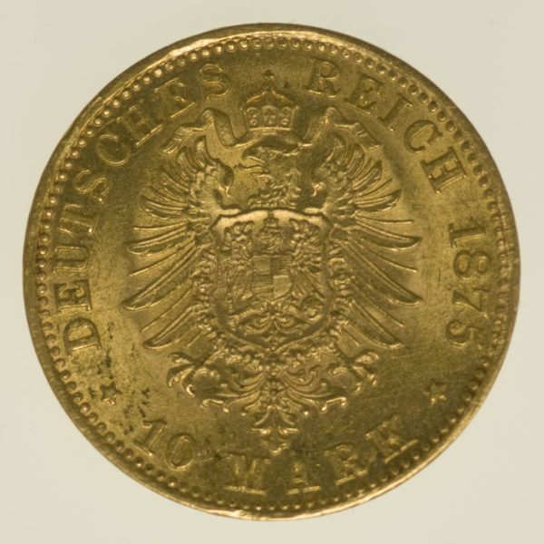 deutsches-kaiserreich-ab-1871 - Bayern Ludwig II. 10 Mark 1875