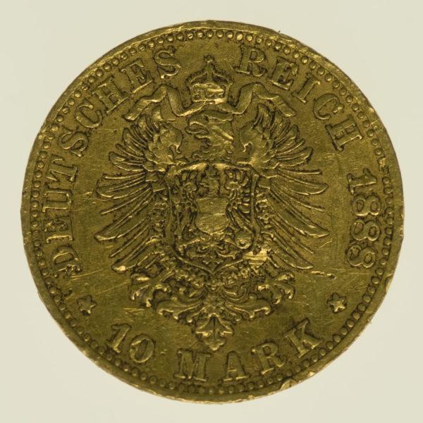 deutsches-kaiserreich-ab-1871 - Bayern Otto 10 Mark 1888