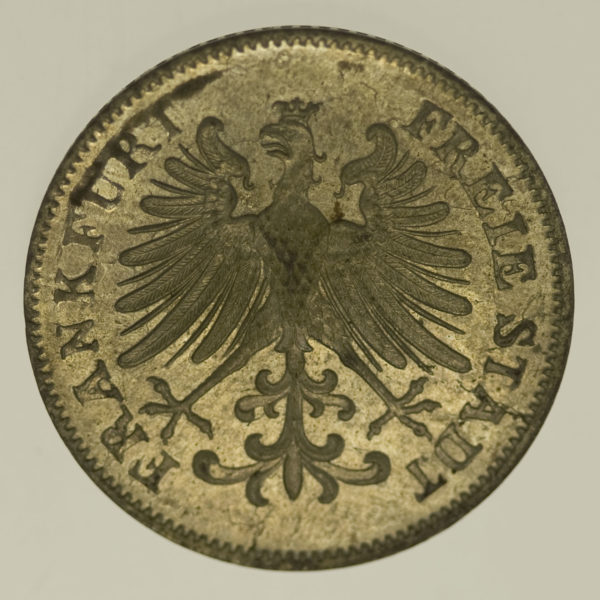altdeutschland-deutsche-silbermuenzen - Frankfurt Stadt 6 Kreuzer 1852