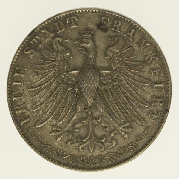 altdeutschland-deutsche-silbermuenzen - Frankfurt Stadt Doppelgulden 1849