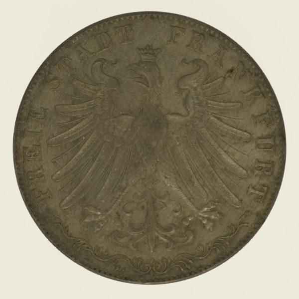 altdeutschland-deutsche-silbermuenzen - Frankfurt Stadt Doppelgulden 1849 Goethe
