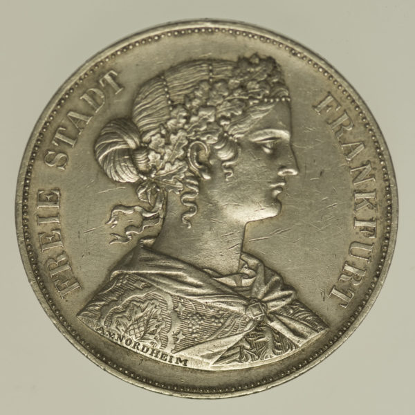 altdeutschland-deutsche-silbermuenzen - Frankfurt Stadt Doppelter Vereinstaler 1861