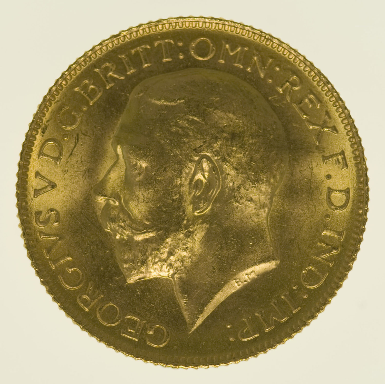 grossbritannien - Großbritannien Georg V. Sovereign 1925