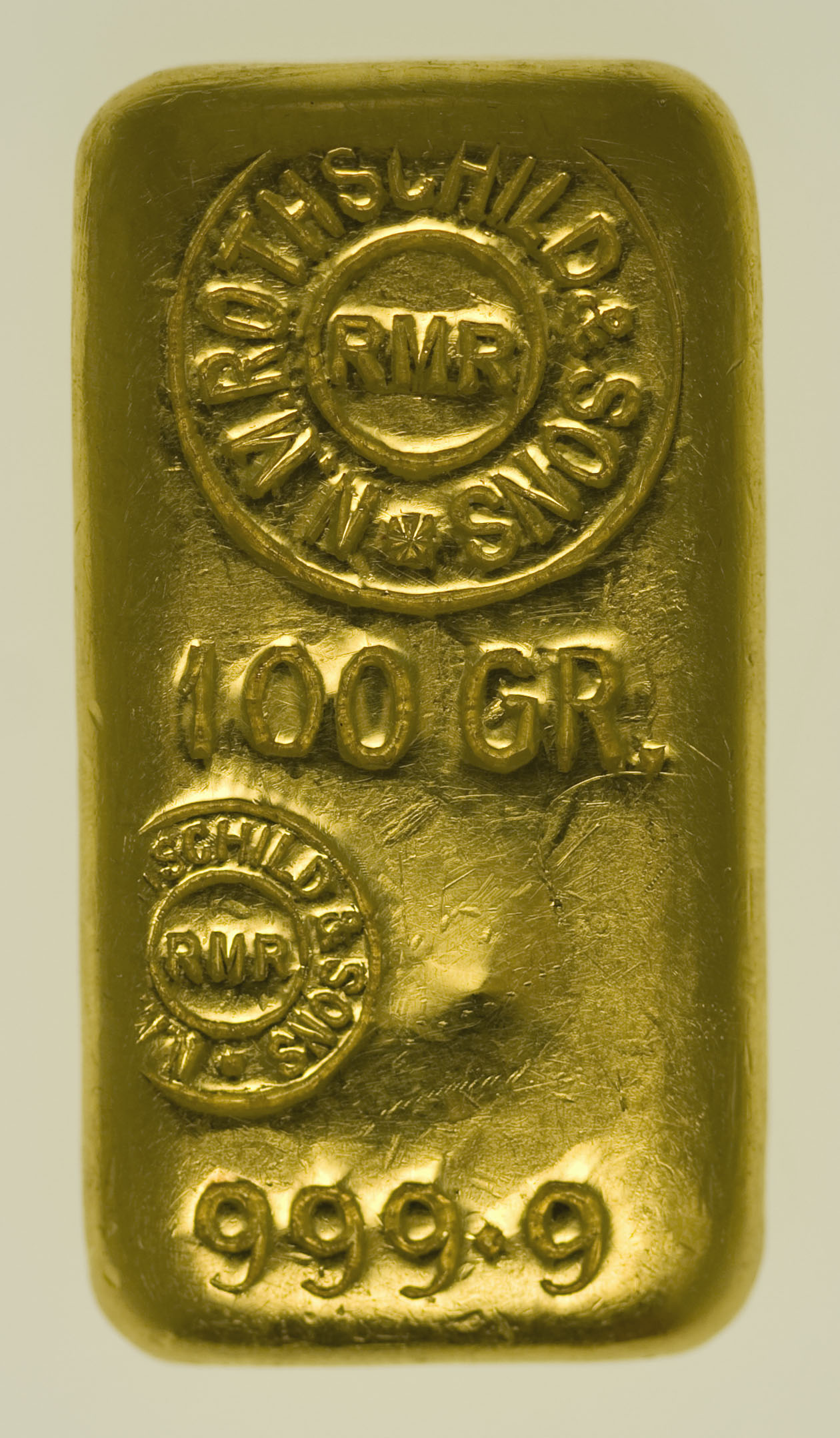goldbarren - Goldbarren 100 Gramm Großbritannien N.M. Rothschild & Sons Limited