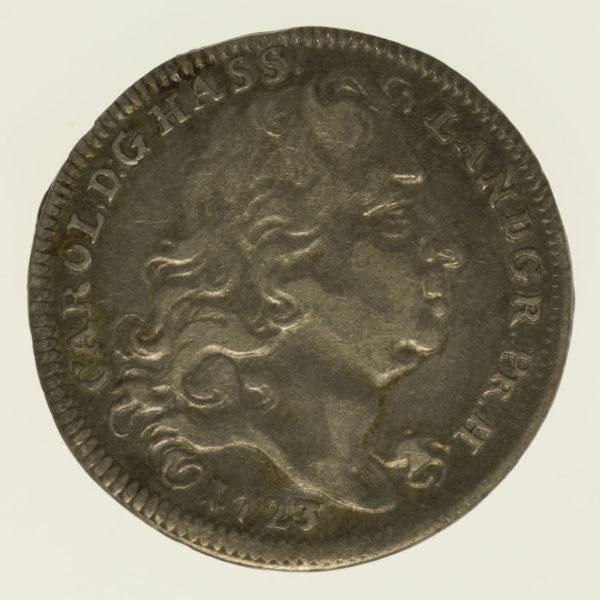 altdeutschland-deutsche-silbermuenzen - Hessen Kassel Karl 1/8 Taler 1723