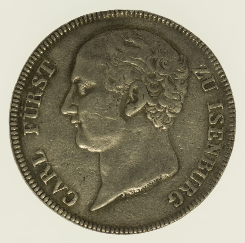 altdeutschland-deutsche-silbermuenzen - Isenburg Carl Friedrich Taler 1811