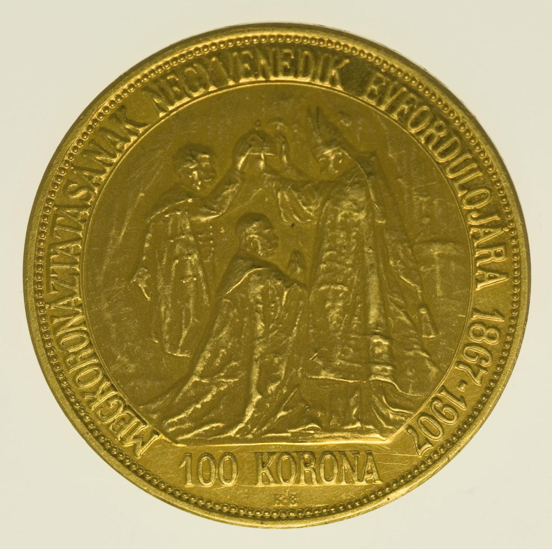 oesterreich - Österreich Kaiserreich Franz Joseph I. 100 Kronen 1907