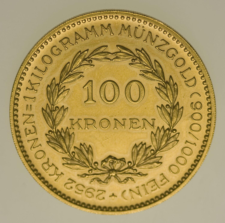 oesterreich - Österreich Erste Republik 100 Kronen 1924