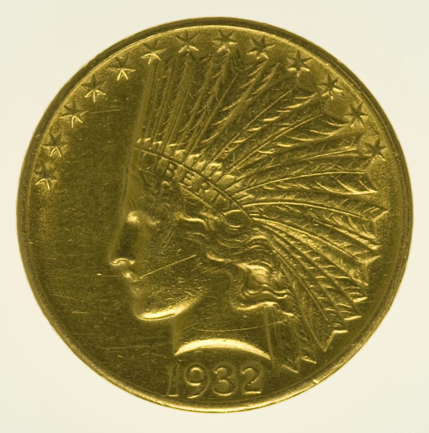 usa - USA 10 Dollars 1932 Indianer