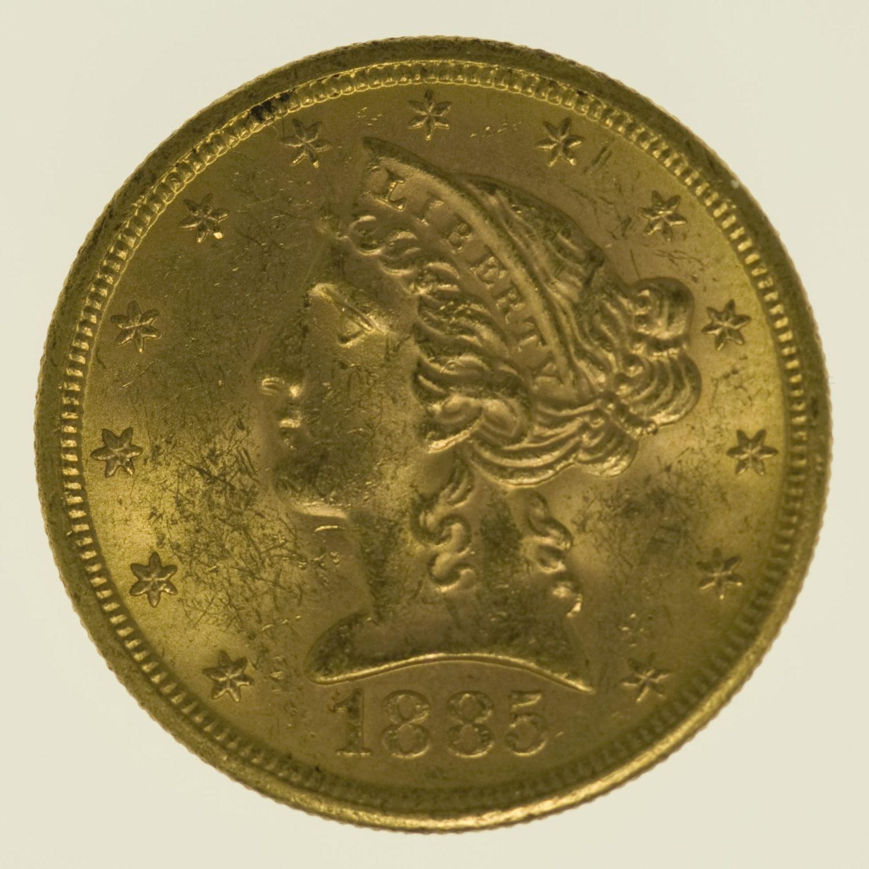 usa - USA 5 Dollars 1885 S Liberty / Kopf