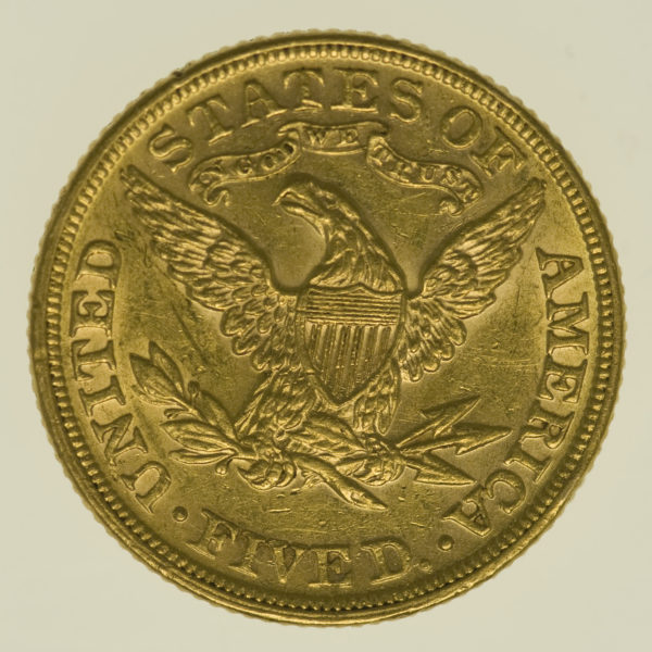 usa - USA 5 Dollars 1895 Liberty / Kopf
