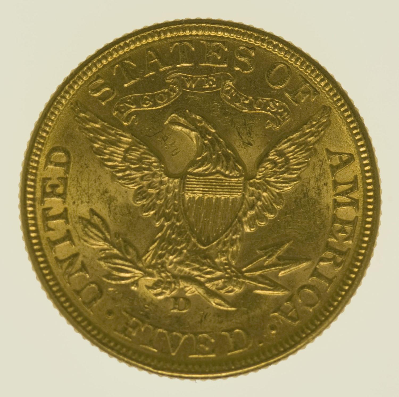 usa - USA 5 Dollars 1906 D Liberty / Kopf