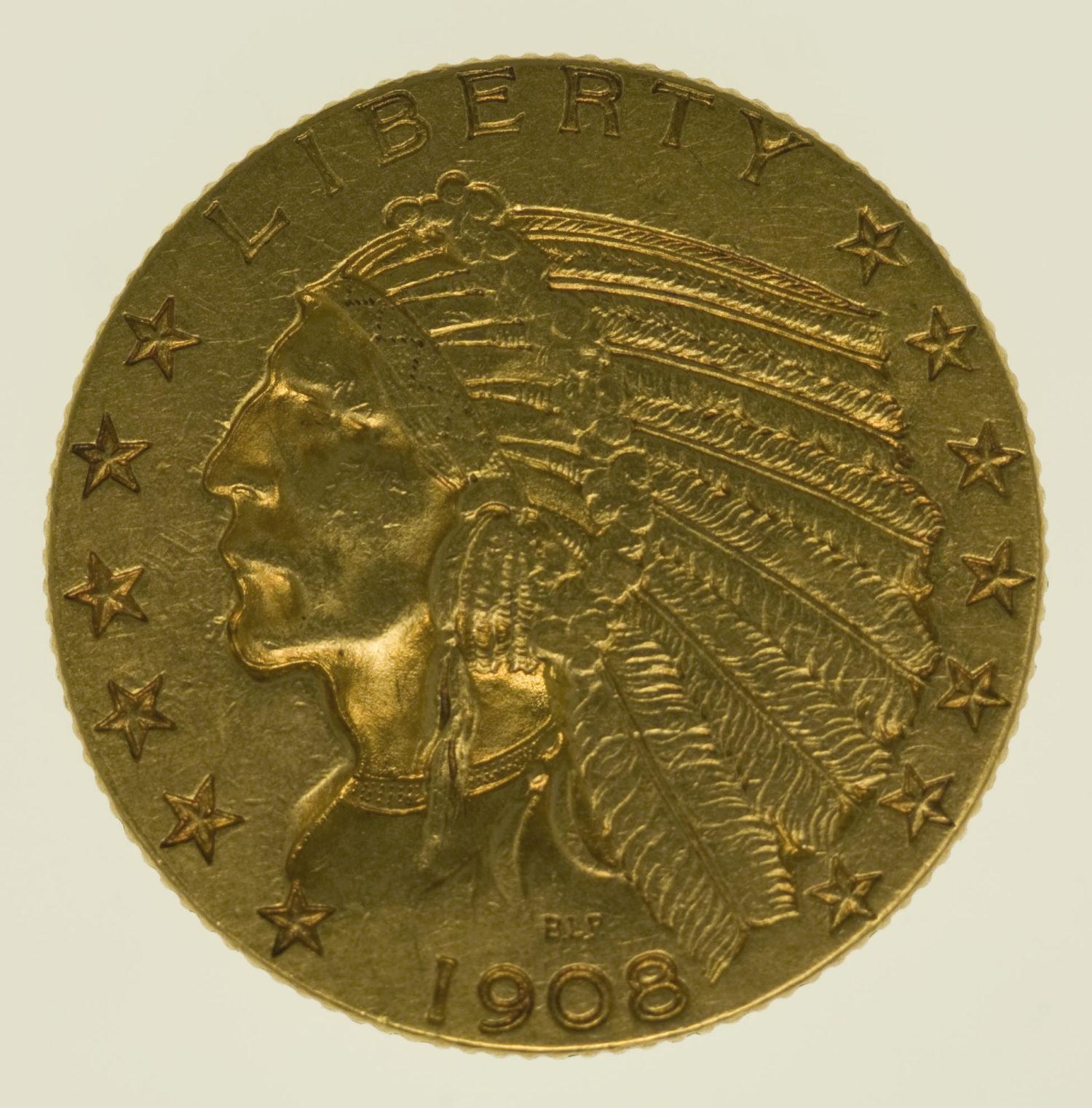 usa - USA 5 Dollars 1908 Indianer