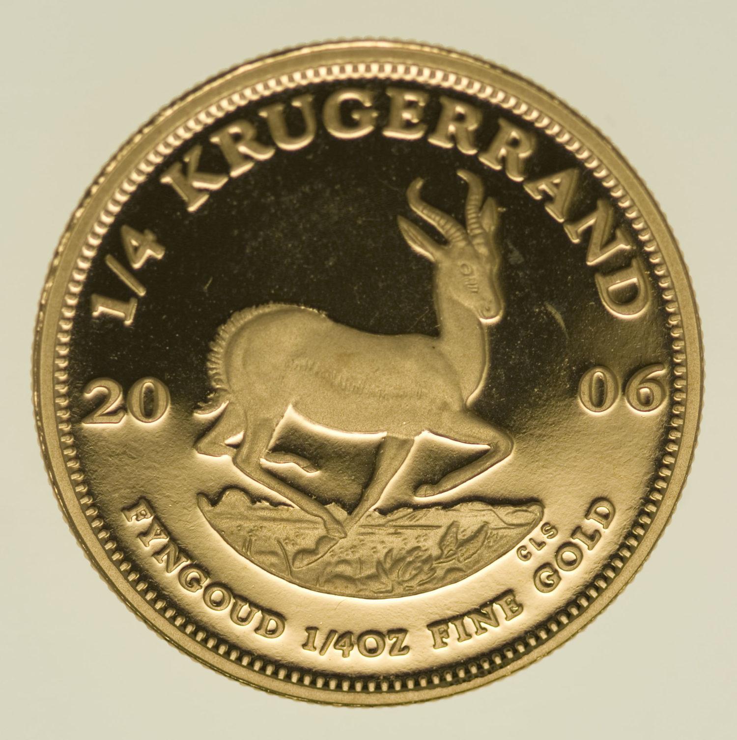 suedafrika - Südafrika Krügerrand 1/4 Unze 2006