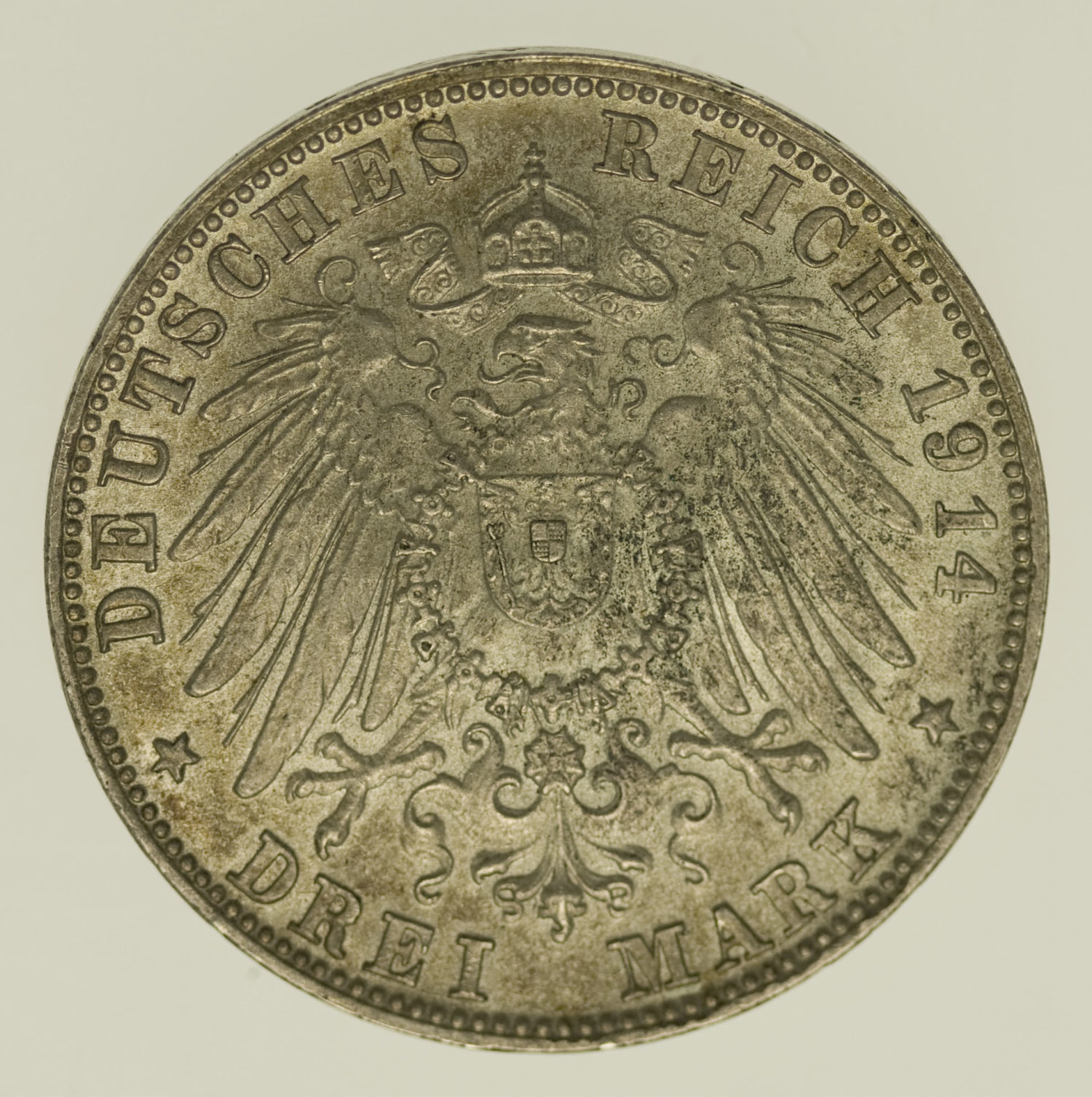 deutsches-kaiserreich-ab-1871-deutsche-silbermuenzen - Bayern Ludwig III. 3 Mark 1914