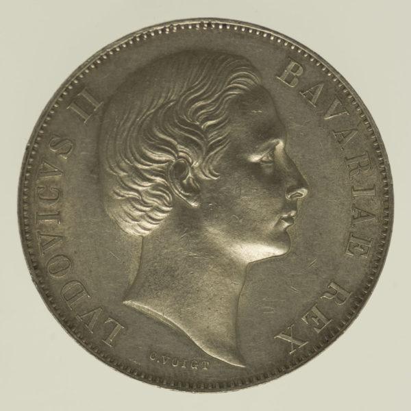 altdeutschland-deutsche-silbermuenzen - Bayern Ludwig II. Vereinstaler 1866