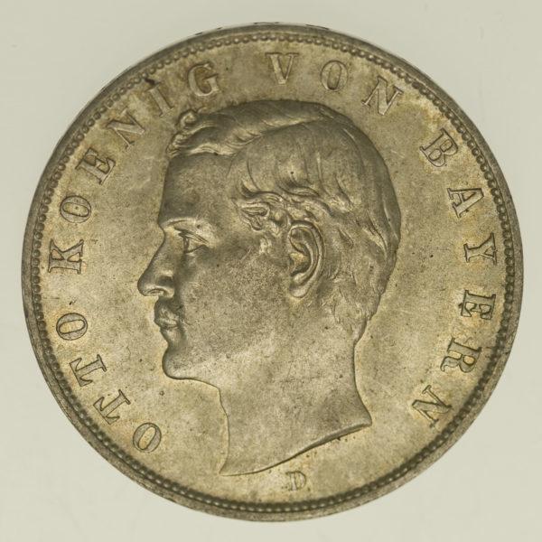 deutsches-kaiserreich-ab-1871-deutsche-silbermuenzen - Bayern Otto 3 Mark 1908