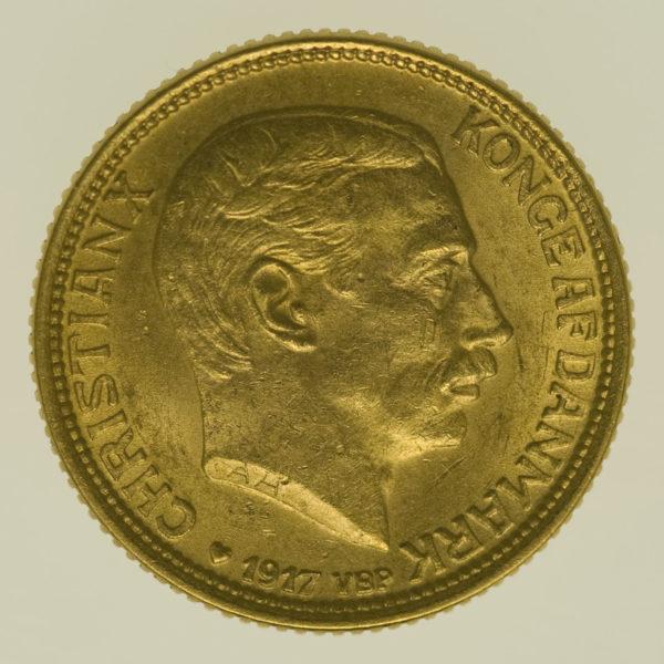 daenemark - Dänemark Christian X. 10 Kronen1917