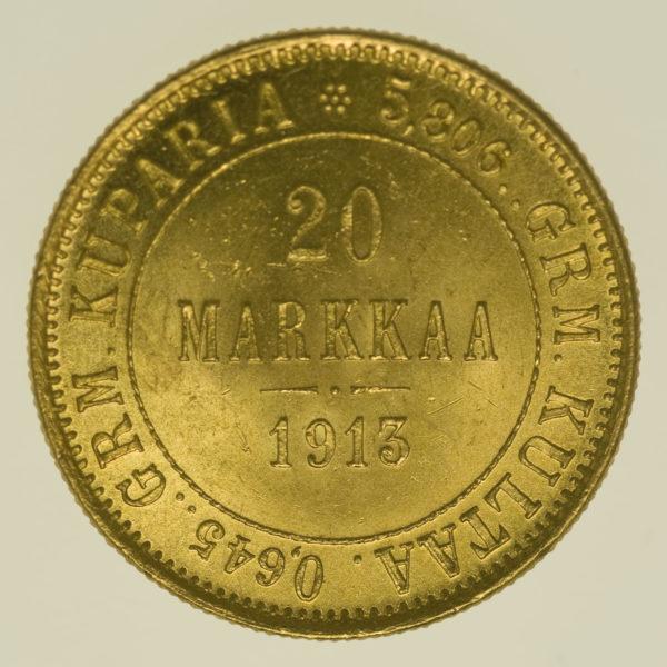 finnland - Finnland Nikolaus II. 20 Markkaa 1913
