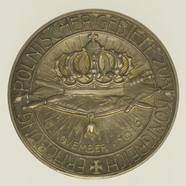 deutsches-kaiserreich-ab-1871-deutsche-silbermuenzen - Franz Josef I. und Wilhelm II. Silbermedaille 1916