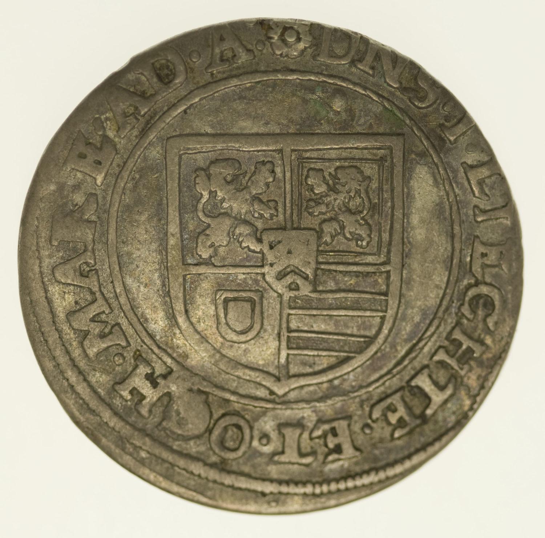 altdeutschland-deutsche-silbermuenzen - Hanau Lichtenberg Johann Reinhard I. Teston o.J.