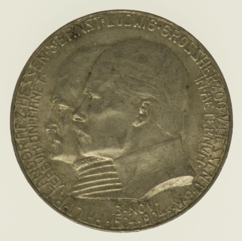 deutsches-kaiserreich-ab-1871-deutsche-silbermuenzen - Hessen Ernst Ludwig 5 Mark 1904